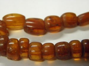 Amber beads from Murrahin North, Co. Cork