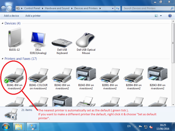 DevicesAndPrinters