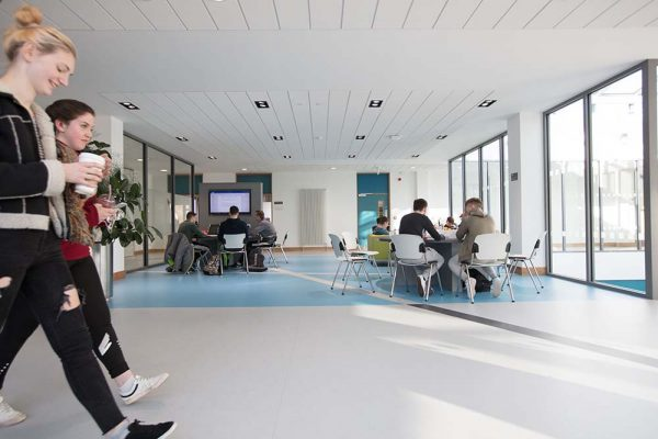 One of the new Social Learning zones in the refurbished School of Business & Social Sciences building at IT Sligo.