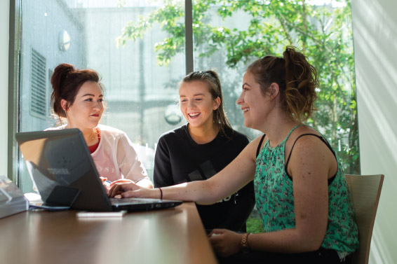IT Sligo Students Studying together
