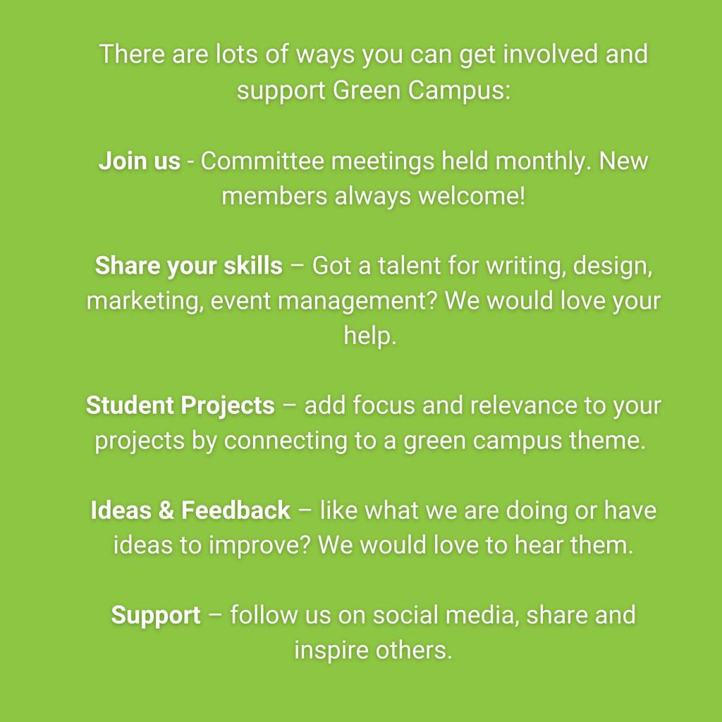 IT Sligo Green Campus Get Involved