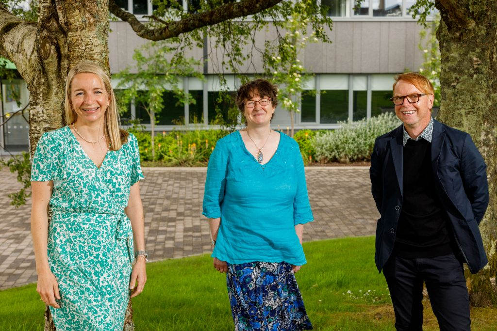 The Green Campus Team, Fiona Britton, Professor Frances Lucy and Declan Feeney at IT Sligo
