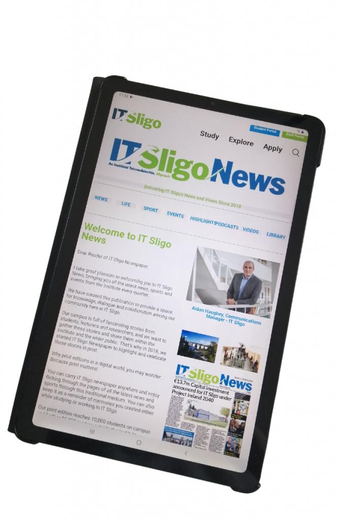 IT Sligo Newspaper on Tablet