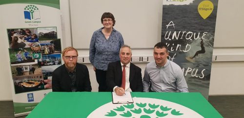 Historic day at IT Sligo with the signing of the Green Campus Program, pledging to become a more environmentally aware and friendly campus back in April 2019.