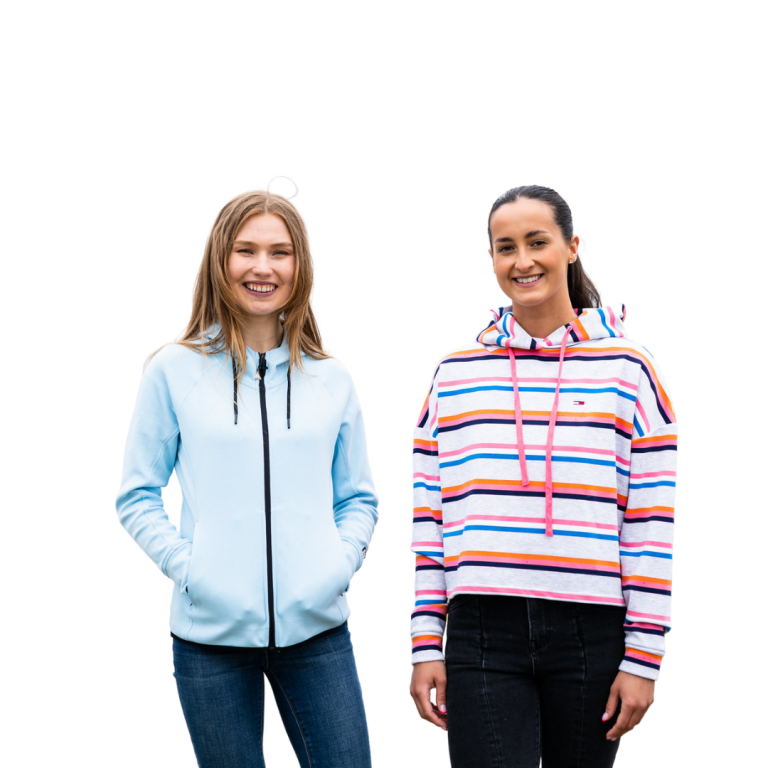 Two female students cropped photo
