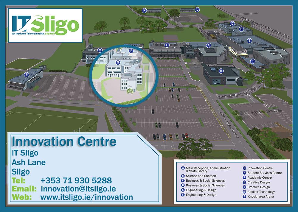 Innovation centre campus map