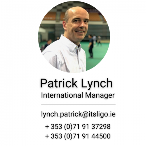Mr Patrick Lynch, International Office, IT SLIGO