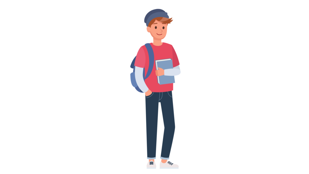 Male student graphic
