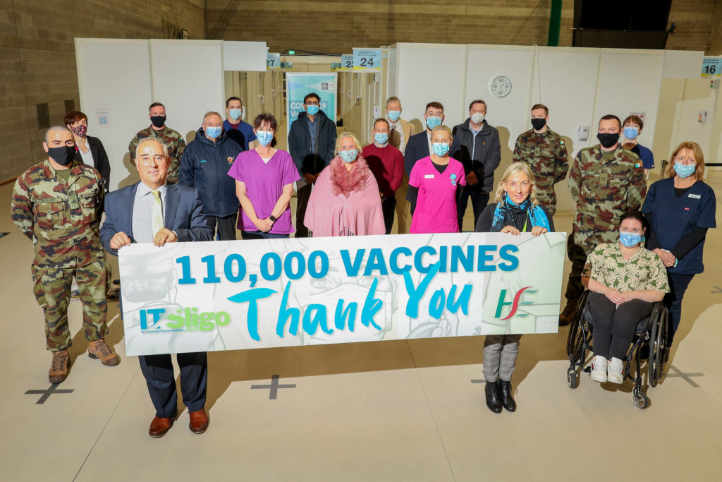 HSE leave Knocknarea Arena after 110,000 vaccines administered in 8 months.